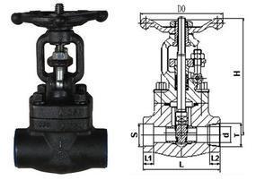 锻钢闸阀Z61H-16C