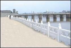 仿石护栏,仿汉白玉栏杆,水利工程,河道栏杆,河道整治