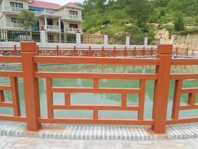 河道景观1.8米方格仿木护栏