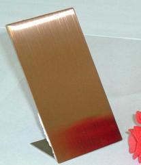 不锈钢玫瑰金拉丝板