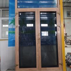 热销贝科利尔铝包木内开门外挂金刚网铝包木金刚一体窗铝包木门窗