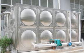 不锈钢水箱、不锈钢球面板组合焊接水箱