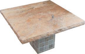 米黄色大理石方形桌面MCF460