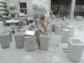 GTB005花岗岩垃圾桶