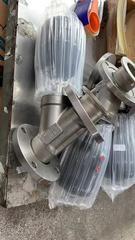 304不锈钢耐高温气控阀门Y型蒸汽塑料气缸全钢头气动法兰式角座阀