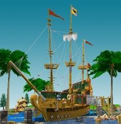防腐木景观船