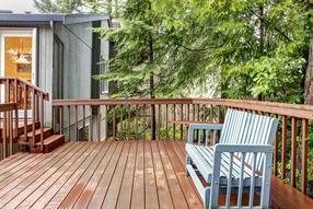 私家庭院木平台、防腐木地板、木围栏
