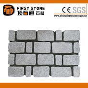 滚磨面浅灰色花岗岩马赛克地砖HZW-124-T