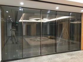 定制杭州玻璃铝合金办公室隔断铝型材