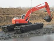 湿地挖掘机,湿地挖机改装,出租,租赁及配件18573609999