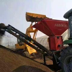水稻苗床粉土机 大棚秧苗粉土机 轴传动土壤粉碎机