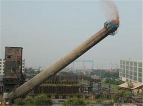 拆除100米水泥烟囱