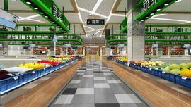 长沙农贸市场室内设计长沙菜市场室内设计咨询专业长沙壹番