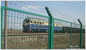 铁路护栏网 铁路两侧防护网 铁路刺绳护栏