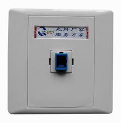 单口光纤面板QS-SC-FP,86型光纤面板