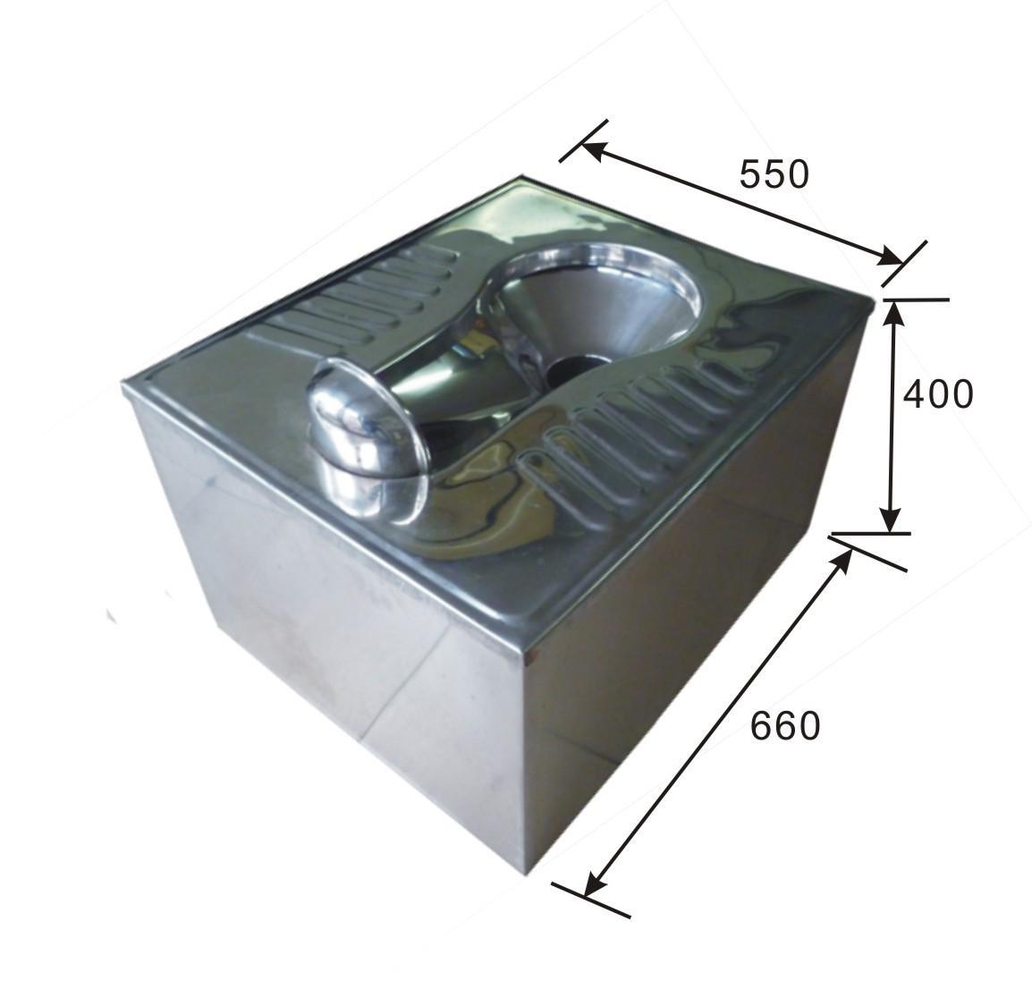 污水提升不锈钢蹲便器/蹲坑蹲位器
