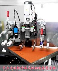 产品贴合检测定位系统,自动旋转冲贴式胶纸机系统案例