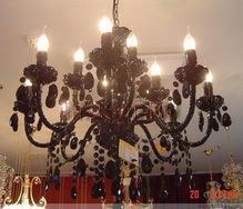 实拍!欧式黑色水晶吊灯客厅灯CT-8+4A11198