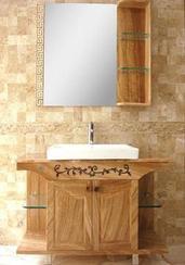 白色大理石浴室浴柜ZJ-1001B
