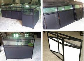 促销宣传特卖折叠玻璃黑色展柜