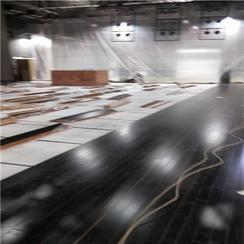 耐磨防滑体育场地专用实木运动地板