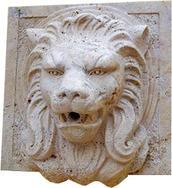大理石狮子头雕刻 MAF206