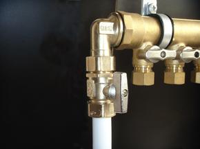 恒尔暖分水器与主管连接专用活接角阀