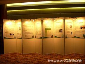 厂家直销 低价促销八棱柱展览屏风 书画展架 铝合金展板框架