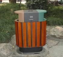 垃圾箱,果皮箱,户外垃圾桶钢木垃圾桶,木制垃圾桶