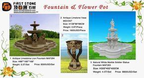 喷泉、花盆
