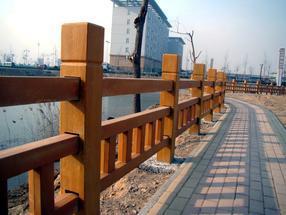 四川驰升河堤水泥仿木栏杆