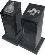 花岗岩墓碑石两件GME033