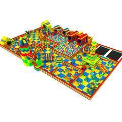 室内大小型epp方砖积木乐园 英伦风淘气堡球池陆地闯关游乐设施