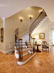 玻璃楼梯,铁艺楼梯,别墅楼梯,墅木楼梯