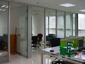 双玻百叶隔断|玻璃隔墙|成品隔墙