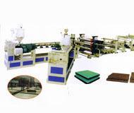 青岛最成熟的生产PVC木塑建筑模板设备的厂家