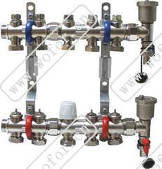 沃佛尔牌温控型DN32-25地暖分集水器