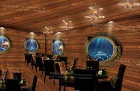 3d无缝欧式工装墙纸木纹海盗船舱主题餐厅背景墙壁纸大型壁画