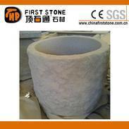灰白色花岗岩花盆GGV301