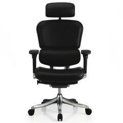 联友椅业金豪+E-AB-HAL全真皮人体工学椅 办公椅