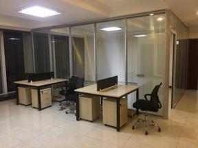 辦公隔斷鋁合金雙玻百葉隔墻磨砂玻璃調光玻璃