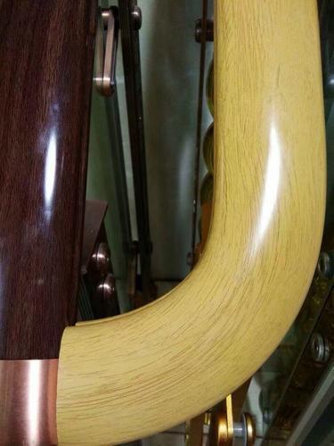 汉中木纹楼梯扶手厂家供应pvc高分子热转印木扶手,媲美红木楼梯扶手