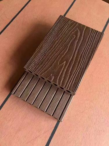 成都木塑地板栈道厂家供应25*140实心户外共挤压花塑木地板
