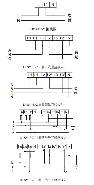 DTSY1352-F峰平谷预付费电表/分时段计量电费