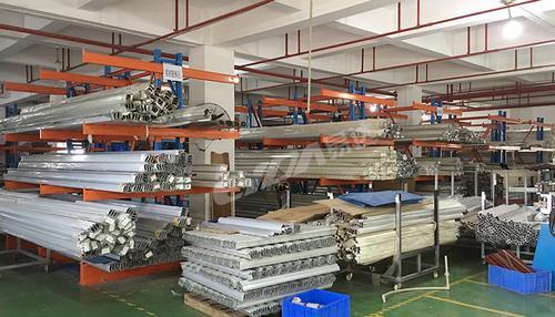 易达广州仓储货架厂单双面悬臂货架五金钢管管材货架
