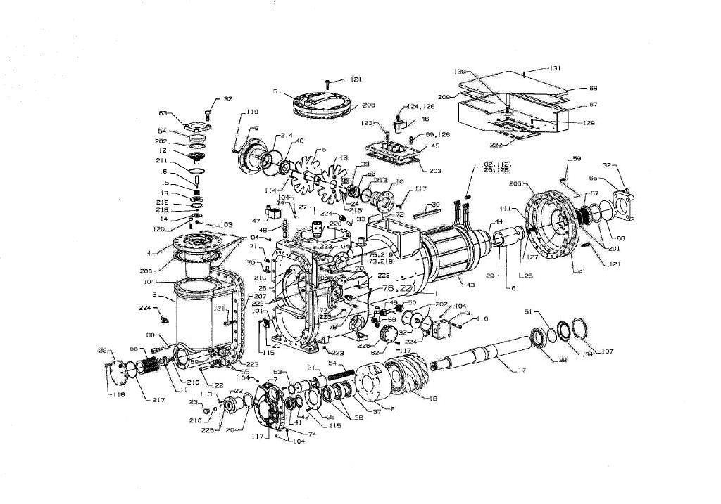 麦克维尔单螺杆压缩机图纸