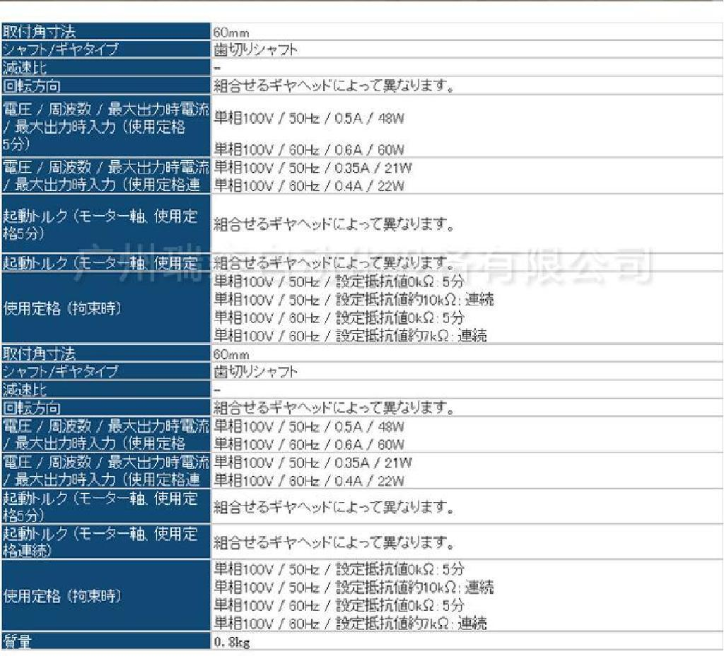 日本东方马达Orientalmotor广东总代理